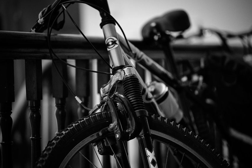 Resting Bicycle Close-up CyclingUnites Day Detail Horizontal Indoors  Land Vehicle Mode Of Transport Monochrome Photography No People Stationary Transportation