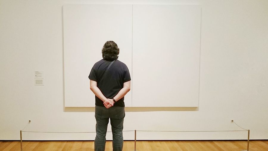In MoMa Portraits Art One Person Rear View Standing The Portraitist - 2017 EyeEm Awards Tranquility White Museum Art Gallery PhonePhotography Painting Contemporary Art Moma N.Y. Moma