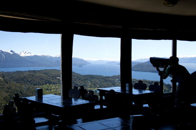 Cerro Campanario Bar. Panoramic view from the bar window. NorthEast view. Los Andes Nahuel Huapi Nahuel Huapi Lake Panoramic View Argentina Bariloche Beauty In Nature Cerro Campanario Day Landscape Leisure Activity Lifestyles Mountain Mountain Range Panoramic Point Patagonia Patagonia Argentina Scenics Sky Window Nature