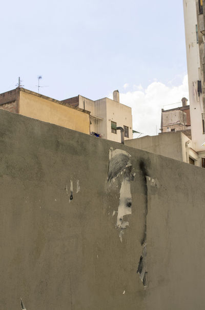 Wall child 50/50 Barcelona Building Exterior Concrete Cubic Fine Art No People Outdoors Torn Poster Wall