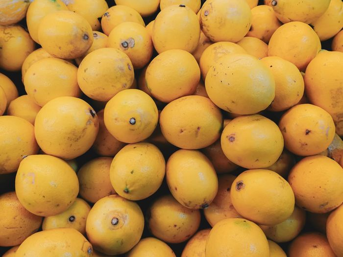 Full frame shot of fruits for sale at market stall