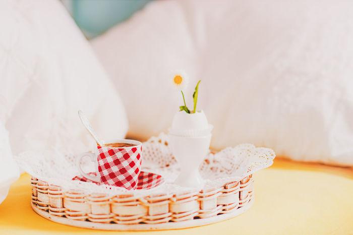 Breakfast in Bed Bed Brekfast  Colors Flowers Indoors  Light Love Morning My Favorite Breakfast Moment Sun