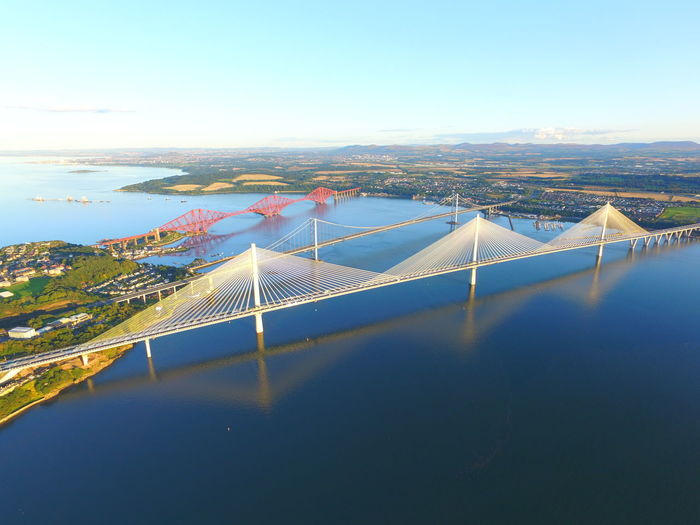 Queensferry crossing forth road and rail bridge Aerial View Landscape High Angle View EyeEmNewHere Cloud - Sky Outdoors Sea Queensferry Crossing Queensferrycrossing Aerial Photography Photography Instagood Tranquil Scene Beauty In Nature Dramatic Sky Bridge - Man Made Structure No People Picaday Life Events Boats Bridges Creative Photography Life Is Beautiful Djimavic Djiphotography