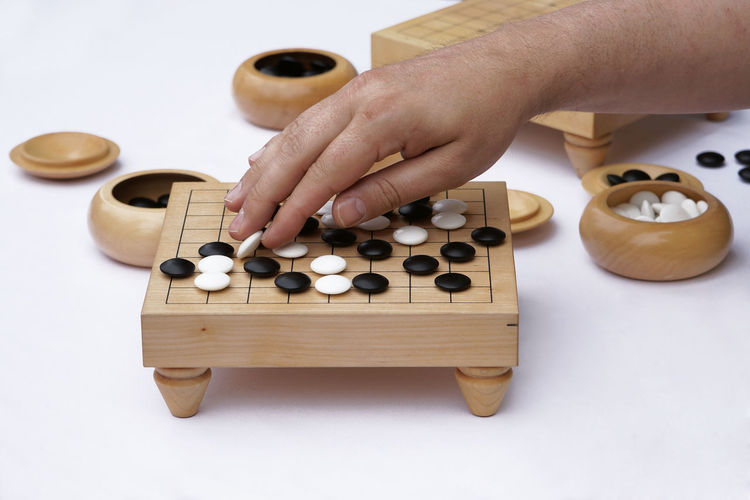 Go game Board Board Game Chinese Game Go Go Game Hand Japanese  Strategy Game Table