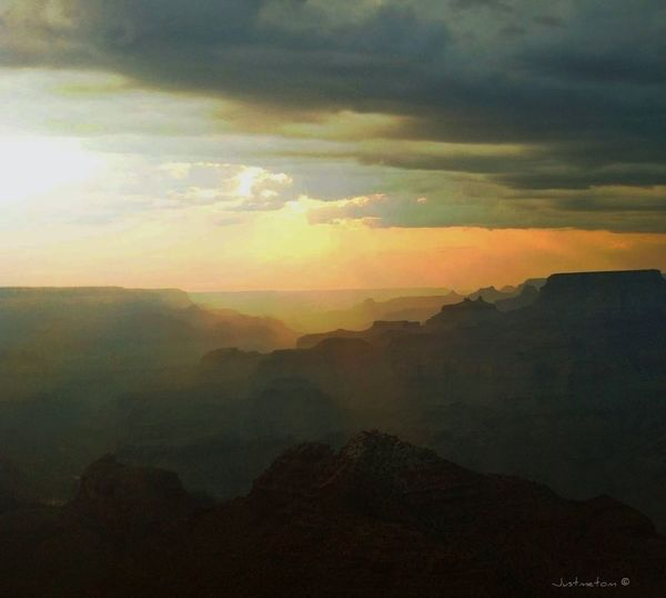 this pic is from a vacation last summer to Arizona and Utah ...it is the unimaginely beautiful Grand Canyon ... we caught this right at sunset ... a sight to behold with beauty beyond words ✨ this is also the first pic in another new album entilted America's West Series an idea that came to be through the suggestion of