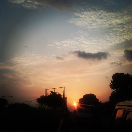 Sunset in Kumasi , Ghana Ghana360 Sky Beauty ©2014, @iamrobotboy