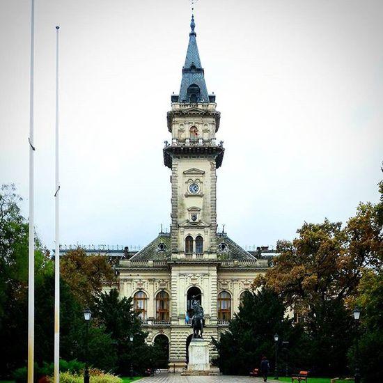 Hodmezovasarhely Cityhall Hungary Kossuth Square Squaready Autumn Tower Overcast Old Amazing Vscohungary Vscohun_mbr 🏰