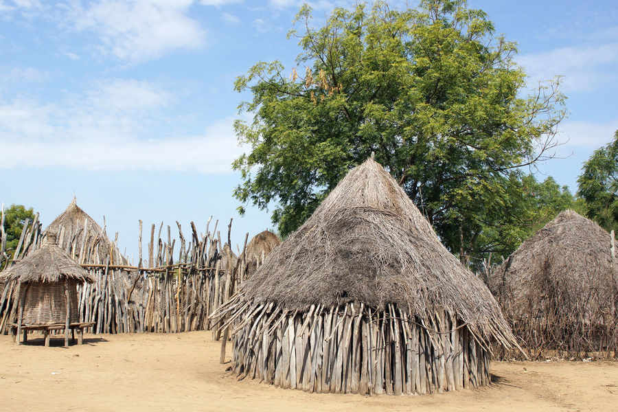 Traditional village of Karo people, Ethiopia, Africa Africa Architecture Building Exterior Built Structure Ethiopia Karo Minority Group Nature Outdoors Poorness Poverty Rural Rural Scene Sights Thatched Roof Tourism Tourist Destination Travel Travel Destinations Village