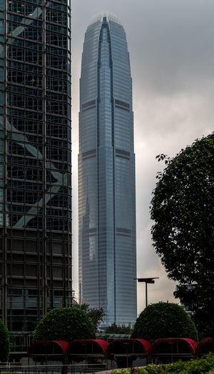 View to the scyscraper ( International Financial Centre tower ) in Hong Kong Architecture Building Exterior Business Finance And Industry City Cityscape Hong Kong International Financial Centre Tower Island Modern No People Outdoors Sky Skyline Skyscraper Tower Urban Skyline