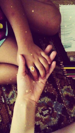 Mycousin❤ Shelovesme Shelovesring ıloveshe Munchkin Sweetangel Painting Rings♥ Rings 💍 GoodTimes Hands Holdinghands