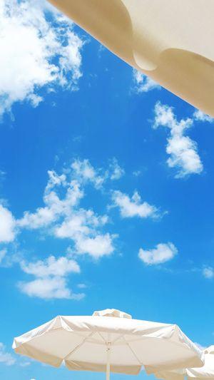 Blue Beach Summer Sky Architecture Cloud - Sky