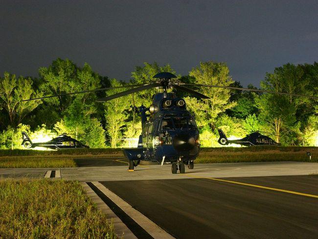 As332 Ec155 Night Nightphotography Helicopter Heliport Olympus OM-D EM-1