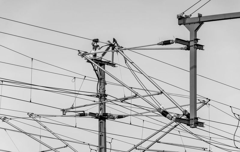 B&w Black And White Cable Connection Day Electricity  Electricity Pylon Low Angle View Nature No People Outdoors Power Line  Power Supply Sky Technology