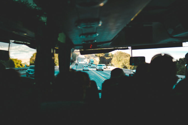 Bus Bus Trip Architecture Bus Tour By Bus Car Car Interior City Driving Glass - Material Land Vehicle Mode Of Transportation Motion Motor Vehicle on the move Outdoors Real People Road Street Transparent Transportation Travel Vacation Vehicle Interior Windshield
