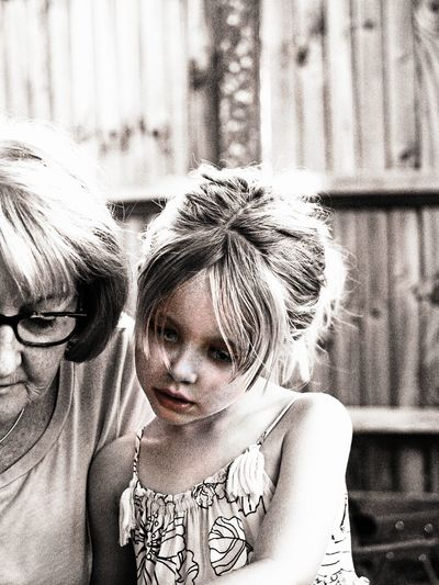 Questions Child Childhood Cute Daughter Day Family Females Focus On Foreground Front View Girls Hairstyle Headshot Innocence Leisure Activity Lifestyles People Portrait Real People Togetherness Two People Women