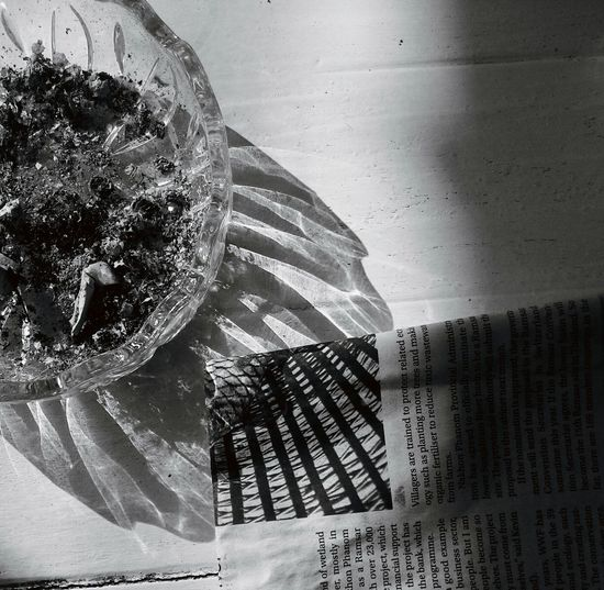 Textures And Surfaces Light And Shadow Shadows & Lights Abstract Ashtray  Newspaper Shadows