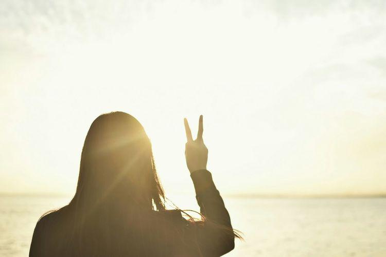 Peace ✌ Sunset Sunlight Sun Rays