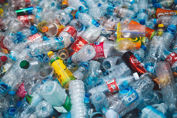 Large Group Of Objects Multi Colored Full Frame Abundance Backgrounds No People High Angle View Recycling Plastic Close-up Garbage Glass - Material Transparent Indoors  Container Bottle Heap Variation Choice Selective Focus Pollution