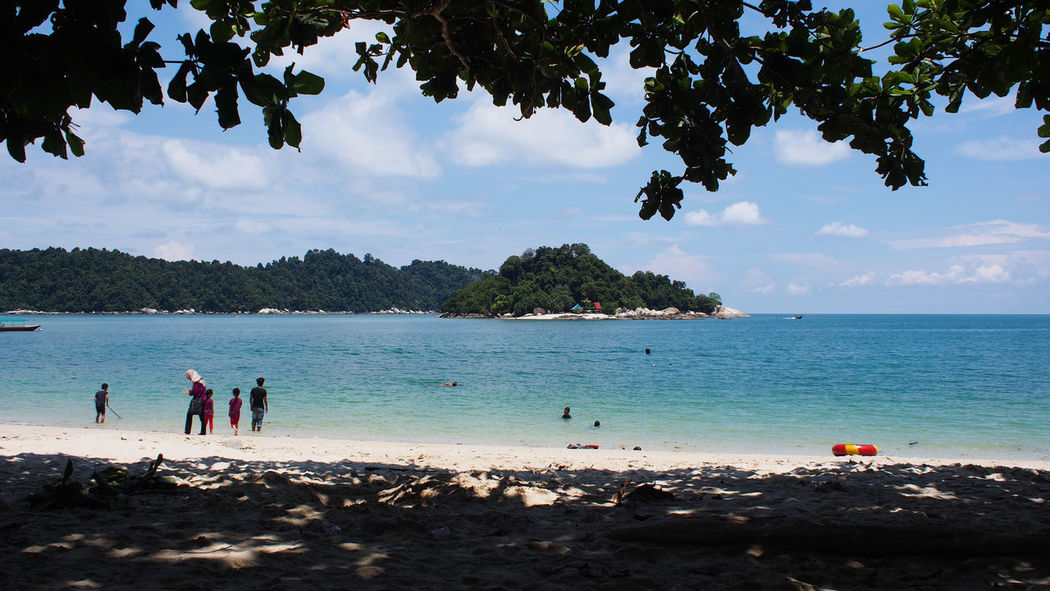Tranquility view of blue ocean and blue sky on Pangkor Island, Malaysia Holiday Jet Boat Nature Ocean View Pangkor Island Beach Beauty In Nature Blue Blue Sky Blue Sky And Clouds Cloud - Sky Day Leisure Activity Nature Nature_collection Ocean Outdoors Sand Scenics Sea Sky Tranquility Tree Vacations Water