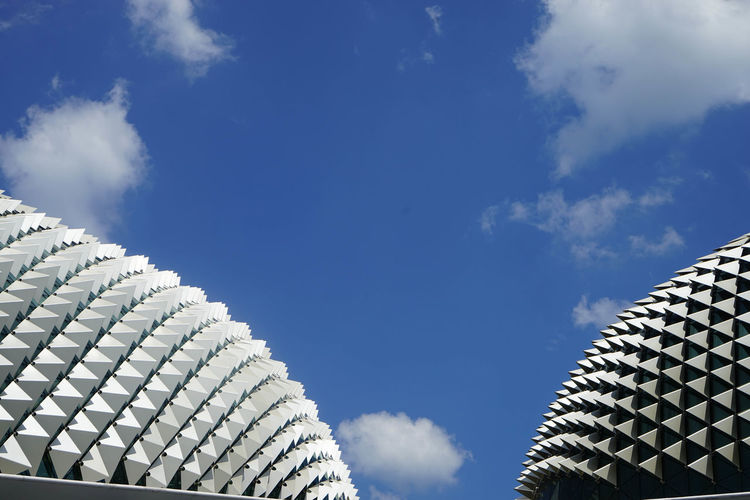 Opéra Singapore Architecture Blue Building Exterior Built Structure Cloud - Sky Day Low Angle View Modern No People Outdoors Sky
