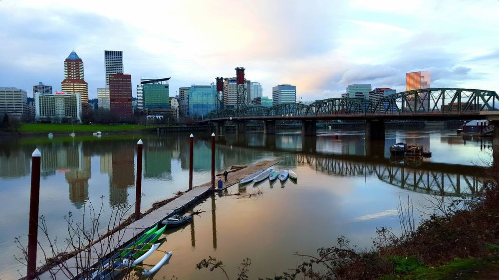 I had the right stuff... Baby... Portland Pacific Northwest  Bridges Sunset_collection Sunset_collection Check This Out EyeEm Eye4photography  Samsungphotography Unique Perspectives Reflections Water_collection Willamette River  Cityscapes EyeEm