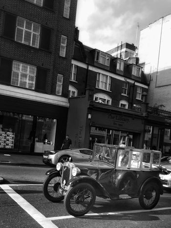 Postcode Postcards Classic Car Blackandwhite Streetphotography