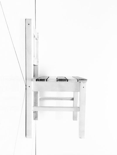Blackandwhite Chair Grafica Indoors  Lines Minimalism No People Weightlessness White Background