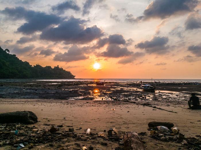 Sea Thailand Sunset Bulone_island Wansafi-e