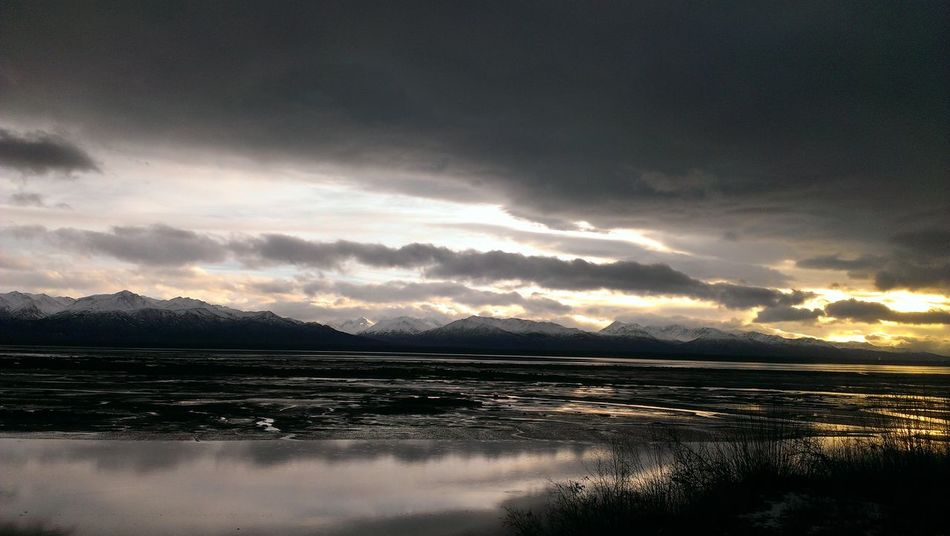 Wintersunset Winterwater Darksunset Cloudscape