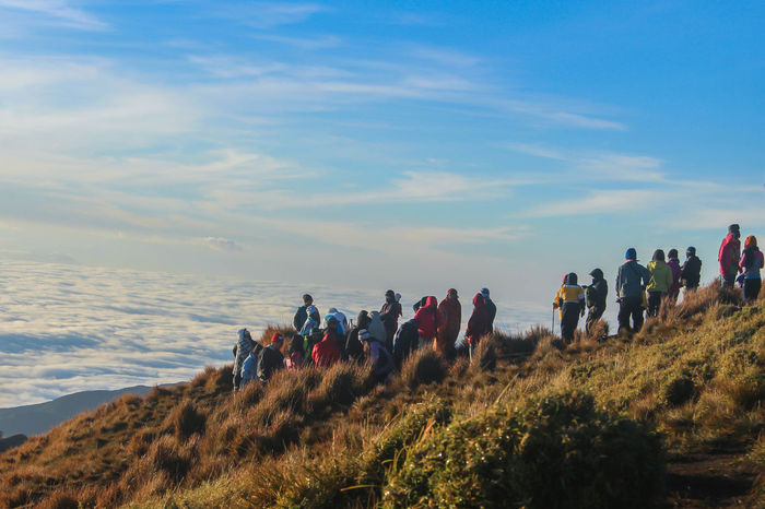 The best view comes after the hardest climb. 🏔 Mt.Pulag Kabayan, Benguet #Mountain #Nature  #Sunrise #chasingsunrise #climbing #climbing To The Sky #clouds  #nature_collection #EyeEmNaturelover #nature #naturebeauty #seaofclouds Adventure Beauty In Nature Cloud - Sky Landscape Large Group Of People Outdoors People Scenics Sky Tranquil Scene Tranquility