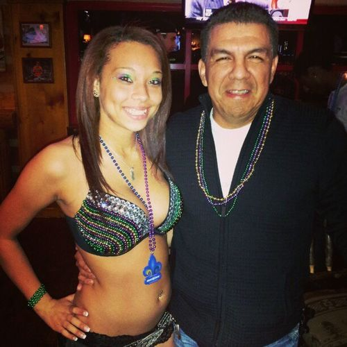 Me and lil @buhreesha showin the beads on Fattuesday Twinpeaks Plano