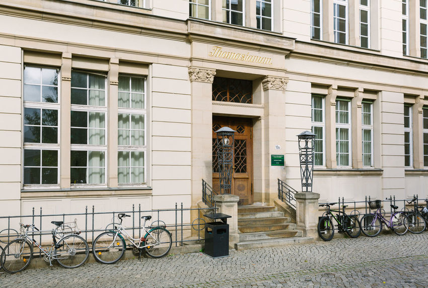Architecture Baroque Bicycle Building Exterior City Day Details Façade Fairytale  Halle (Saale) No People Outdoors Set Window
