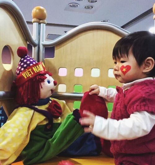 Childhood Child Indoors  Women Females Real People My Best Photo Clothing Costume Toy Girls Representation Innocence Offspring Leisure Activity Lifestyles