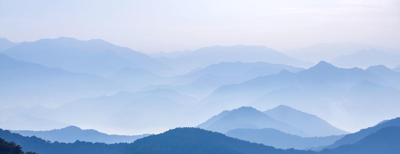 Beauty In Nature Fog Landscape Mountain Mountain Range Nature Scenics Tranquil Scene
