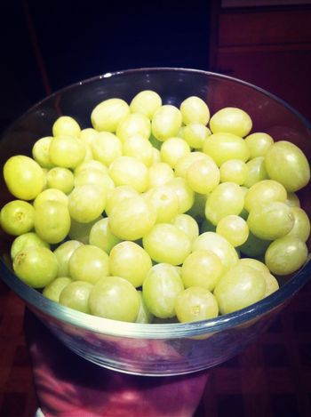 A bowl of grapes can turn a frown upside down(: