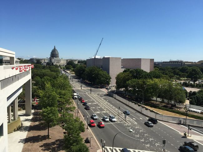 Washington, D. C. Streetphotography From My Point Of View From The Rooftop Cars Iphone6plus Canada Flag Downtown Built Structure Blue Sky Uscapitol Structure Museum