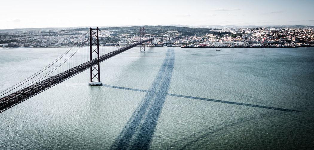 April 25th bridge over river in city