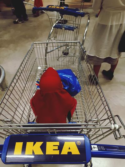 Business Finance And Industry Occupation Adult Indoors  Working Full Length Industry People Occupational Safety And Health Day IKEA Tebrau, Johor Malaysia Kid Trolly Red Scarft Kid Sit Blue Bag