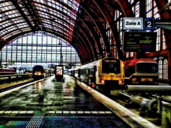 Train Antwerp, Belgium Centraal Station
