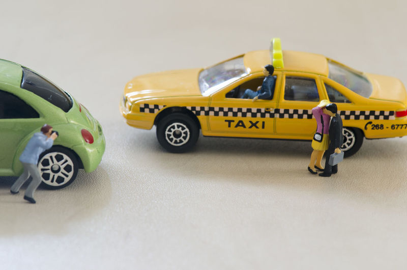 Playmobil People Car Mode Of Transportation Motor Vehicle Transportation Toy Car Yellow Toy Land Vehicle No People Taxi Indoors  Studio Shot Copy Space Day Road Close-up Yellow Taxi Still Life White Background