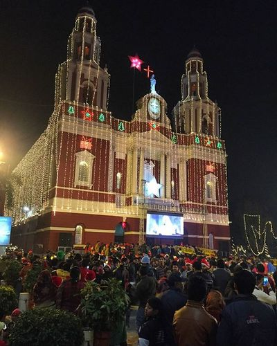 Sacred Heart Cathedral, New Delhi - Finally the so much awaited day has arrived. Never seen so much excitement among people well a few have been there only to be there. Full moon Christmas last being in 1977 finally happened in 2015. That's why there was so many people attracted to Christmas this year. No one wants to wait till 2034. Sacred Heart Cathedral Newdelhi Midnight Service Final Prayers Light The Candle Fullmoonchristmas Christmas Christmas2015 Jesus Love Christmasday 25december