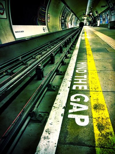 Tooting Bec, London. Underground Station  Mind The Gap Tube First Eyeem Photo