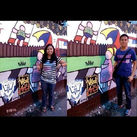 My 1st attempt, Yeheyyy nka experience njud ko mg mural paint sa mga wall masking kadali lng ky dili ko member sa visual arts.. hahahaha at least gi try nko Happy Blessed  Muralpainting Simplehappiness Kapitantomasmonteverde SPC VisualArts 51914