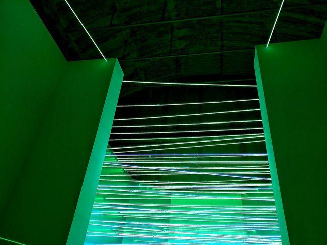 Art Lucio Fontana Ambienti/environments Green Color Neon Lights