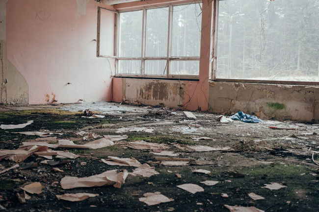 Abandoned Places Nicht-Ort Ostsee Prora Rügen Abandoned Abandoned Buildings Architecture Bleak Built Structure Damaged Day Desolate Destruction Home Interior Indoors  Kaputt Messy No People Rotting Rubble Window