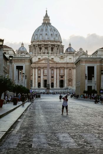 My heart belongs to Italy Travel Destinations Architecture Travel Building Exterior Tourism History Tourist Sky Real People Vaticano Vatican St. Peters Cathedral Rome, Italy Italyiloveyou Travel Photography