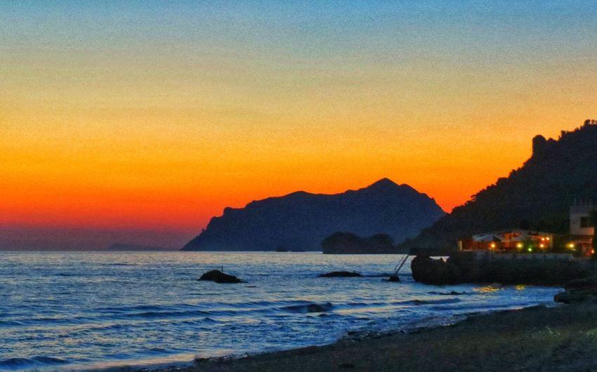Water Sky Sea Sunset Scenics - Nature Beauty In Nature Orange Color Beach Nature Tranquil Scene