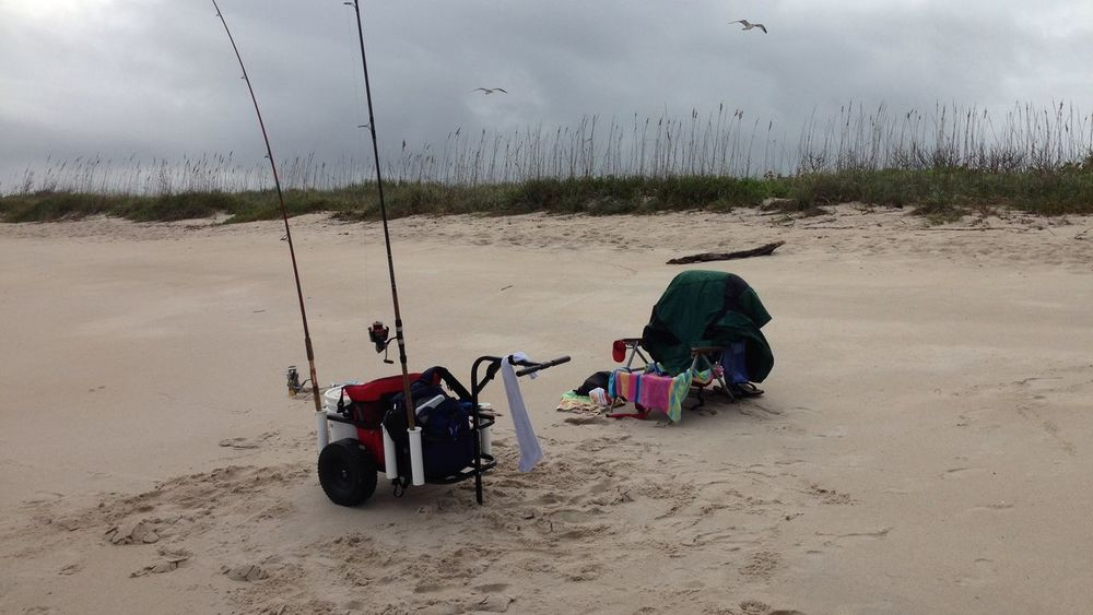 My beach fishing gear Being A Beach Bum Enjoying Life