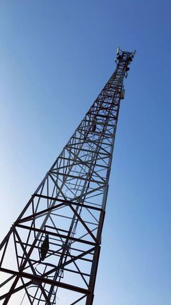 Low Angle View Sky Architecture Clear Sky Technology Built Structure Metal Tall - High Communication Nature Outdoors No People Machinery Global Communications Crane - Construction Machinery Day Connection Tower Broadcasting