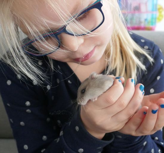 Milika Hamster Hamster Love EyeEm Selects Animal Themes One Animal Real People One Person Pets Domestic Animals Cute Holding Focus On Foreground Mammal Leisure Activity Eyeglasses  Lifestyles Childhood Close-up Day Blond Hair Young Adult Indoors